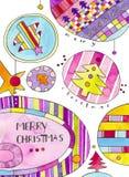 De Kaart van de Groet van Kerstmis Royalty-vrije Stock Afbeeldingen