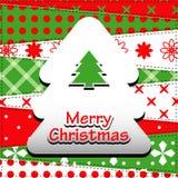 De Kaart van de Groet van Kerstmis. Royalty-vrije Stock Afbeelding