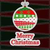 De Kaart van de Groet van Kerstmis Stock Afbeeldingen