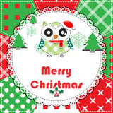 De Kaart van de Groet van Kerstmis Stock Afbeelding