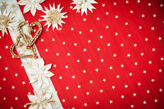 De kaart van de Groet van Kerstmis met ruimte voor tekst Stock Fotografie