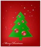 De Kaart van de Groet van Kerstmis, Vrolijke Kerstmis Stock Afbeelding