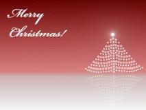De kaart van de groet van Vrolijke Kerstmis Royalty-vrije Stock Afbeeldingen