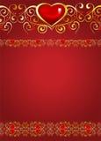 De kaart van de groet voor de Dag van de Valentijnskaart Royalty-vrije Stock Foto