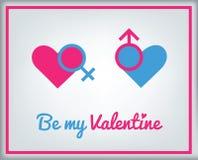 De kaart van de groet voor de Dag van de Valentijnskaart Royalty-vrije Stock Foto's