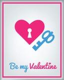De kaart van de groet voor de Dag van de Valentijnskaart Stock Foto's