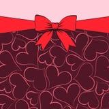 De kaart van de groet voor de dag van Valentijnskaarten Stock Afbeelding