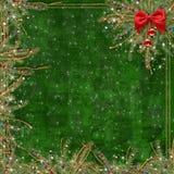 De kaart van de groet voor de vakantie met een rood lint Royalty-vrije Stock Foto