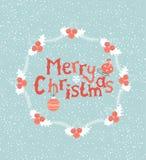 De kaart van de groet voor Kerstmis Stock Afbeeldingen