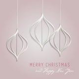 De kaart van de groet voor Kerstmis en nieuw jaar Royalty-vrije Stock Foto