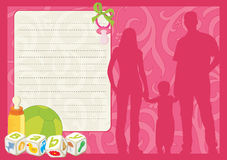 De kaart van de groet voor nieuw - geboren kind stock illustratie