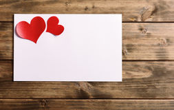 De kaart van de groet voor valentijnskaartendag Stock Afbeeldingen