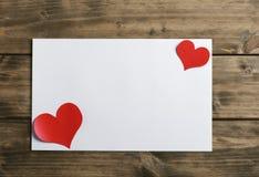 De kaart van de groet voor valentijnskaartendag Stock Fotografie