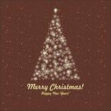 De kaart van de groet. Vrolijk Kerstmis en Nieuwjaar. Royalty-vrije Stock Foto