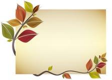 De kaart van de herfst Royalty-vrije Stock Afbeeldingen