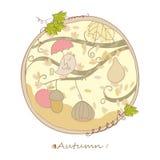 De kaart van de herfst Stock Foto's