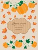 De kaart van de herfst Met extra formaat Stock Foto's