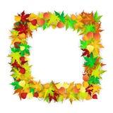 De kaart van de herfst Met extra formaat Royalty-vrije Stock Foto's