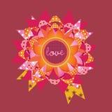 De kaart van de het berichtgift van de liefde. illustratie Royalty-vrije Stock Fotografie