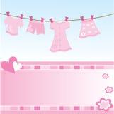 De kaart van de het meisjesgift van de baby Royalty-vrije Stock Afbeeldingen