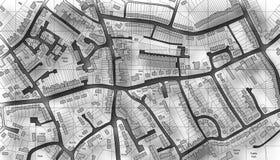 De kaart van de huisvesting stock illustratie