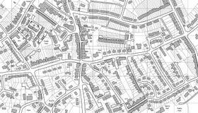De kaart van de huisvesting Royalty-vrije Stock Afbeelding