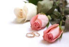 de kaart van de huwelijksuitnodiging Stock Afbeelding