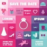 De Kaart van de huwelijksuitnodiging Royalty-vrije Stock Foto's