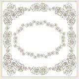 De kaart van de huwelijksuitnodiging met bloemen Royalty-vrije Stock Afbeelding
