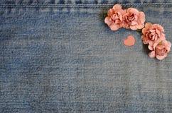 De kaart van de jeansliefde Royalty-vrije Stock Afbeeldingen