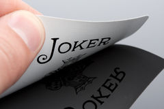 De kaart van de joker Royalty-vrije Stock Foto's