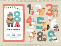 De kaart van de jonge geitjesverjaardag Stock Afbeelding