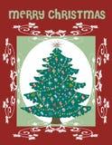 De Kaart van de kerstboom stock illustratie