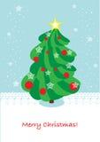 De kaart van de kerstboom Royalty-vrije Stock Foto