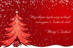 De kaart van de kerstboom Stock Foto