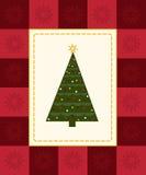 De kaart van de kerstboom Stock Afbeelding
