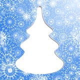 De kaart van de kerstboomgroet Stock Foto