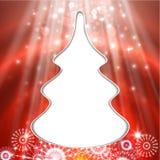 De kaart van de kerstboomgroet Royalty-vrije Stock Afbeeldingen