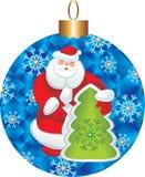 De kaart van de kerstman postel Stock Foto's
