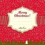 De Kaart van de Kerstmisgroet Royalty-vrije Stock Foto