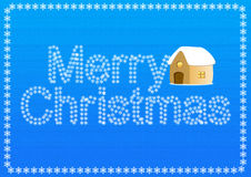 De kaart van de Kerstmisgroet vector illustratie