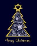 De kaart van de Kerstmisgroet stock fotografie
