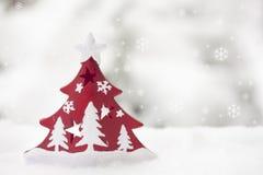 De kaart van de Kerstmisgroet Royalty-vrije Stock Afbeeldingen