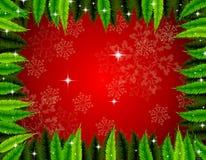 De kaart van de Kerstmisgroet Stock Afbeelding