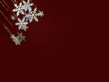 De kaart van de Kerstmisgroet van de sneeuwvlok Stock Fotografie