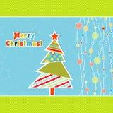 De kaart van de Kerstmisgroet van het malplaatje, vector Stock Afbeelding