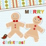 De kaart van de Kerstmisgroet van het malplaatje, vector Royalty-vrije Stock Afbeeldingen
