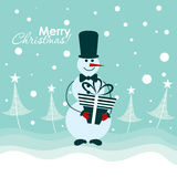 De kaart van de Kerstmisgroet van het malplaatje, vector Royalty-vrije Stock Fotografie