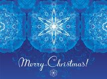 De kaart van de Kerstmisgroet van vorstpatronen Royalty-vrije Stock Fotografie