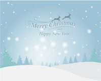 De kaart van de Kerstmisgroet, vector Royalty-vrije Stock Fotografie